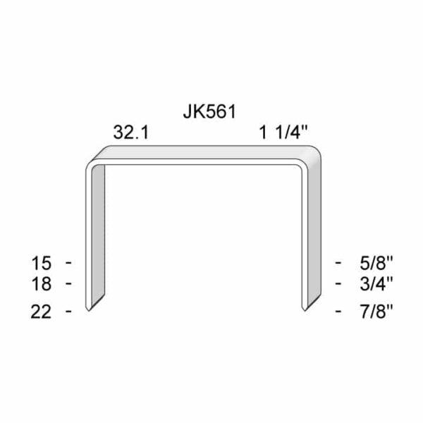 J K 561 15-22mm Staple